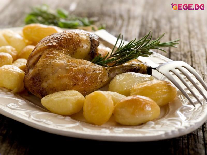 Пиле с картофи, цяло пиле с картофи
