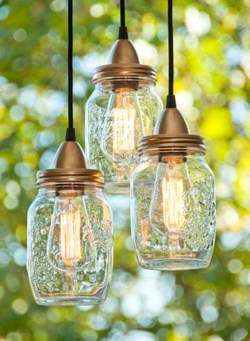 Лампи от буркани Mason jar lamps