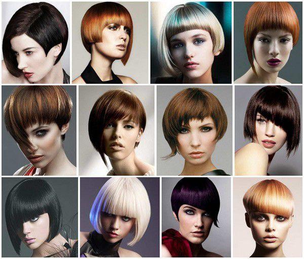 Асиметрични прически за къси коси