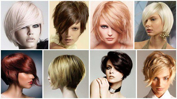 Прически за къса коса с бретон