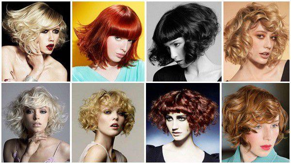 Прически за къса коса с къдрици